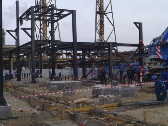 Structura metalica a unitatii DGRS